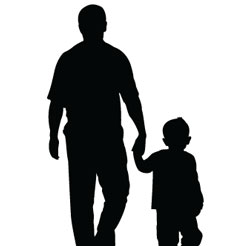 Father-Son-Shadow